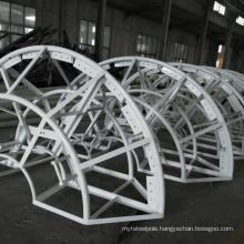 30m galvanized steel polygonal lighting pole for basketball court, carport, airport, sea port and high way high mast pole