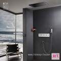 Wall Mounted Five Function Thermostatic Brass Shower Faucet