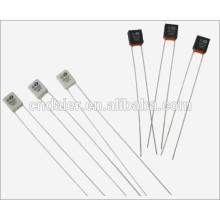 Fusible térmico Daier RH-01 Negro / Blanco 2A 250VAC 2 Pin de flexión con 55 grados ~ 320 grados