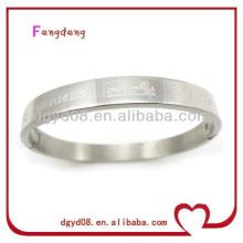 2014 nouveau design populaire 316L en acier inoxydable gravé motif bracelet / bracelet