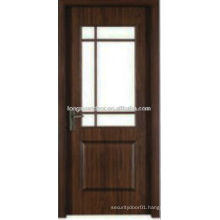 WPC PVC toilet bedroom bathroom door with glass design