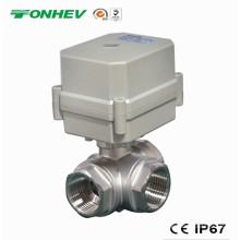 3-Wege Elektrisches 304ss Motorisiertes Durchflussregel-Wasserventil (T20-S3-C)