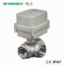 3 vias Elétrica 304ss Motorizado Válvula de Controle de Água de Controle (T20-S3-C)