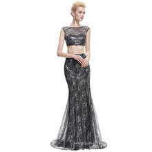 Starzz 2016 New Arrival Sexy Cheap Sequin Two Piece Set Long Black Prom Dress ST000030-1