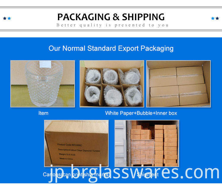 Packing of glass candle holder