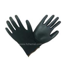 18g Liner Black Nylon Gloves PU Revêtement Travail PU Gants