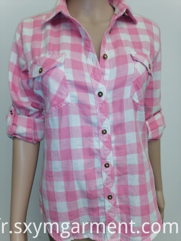 ladies cotton double layer fabric blouse