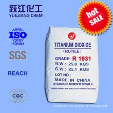 Excelente Tinting Fuerza Rutilo Dióxido de titanio para plásticos, cerámica y papel (R1931)
