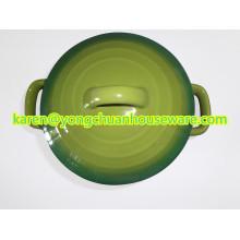 Ceramic Round Casserole with Lid-Blue Color