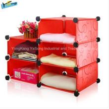 Gabinete de almacenamiento rojo barato de los muebles de la sala de estar