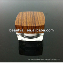 5g 15g 30g 50g 100g Double Wall Acrylic Wooden Cosmetic Jar