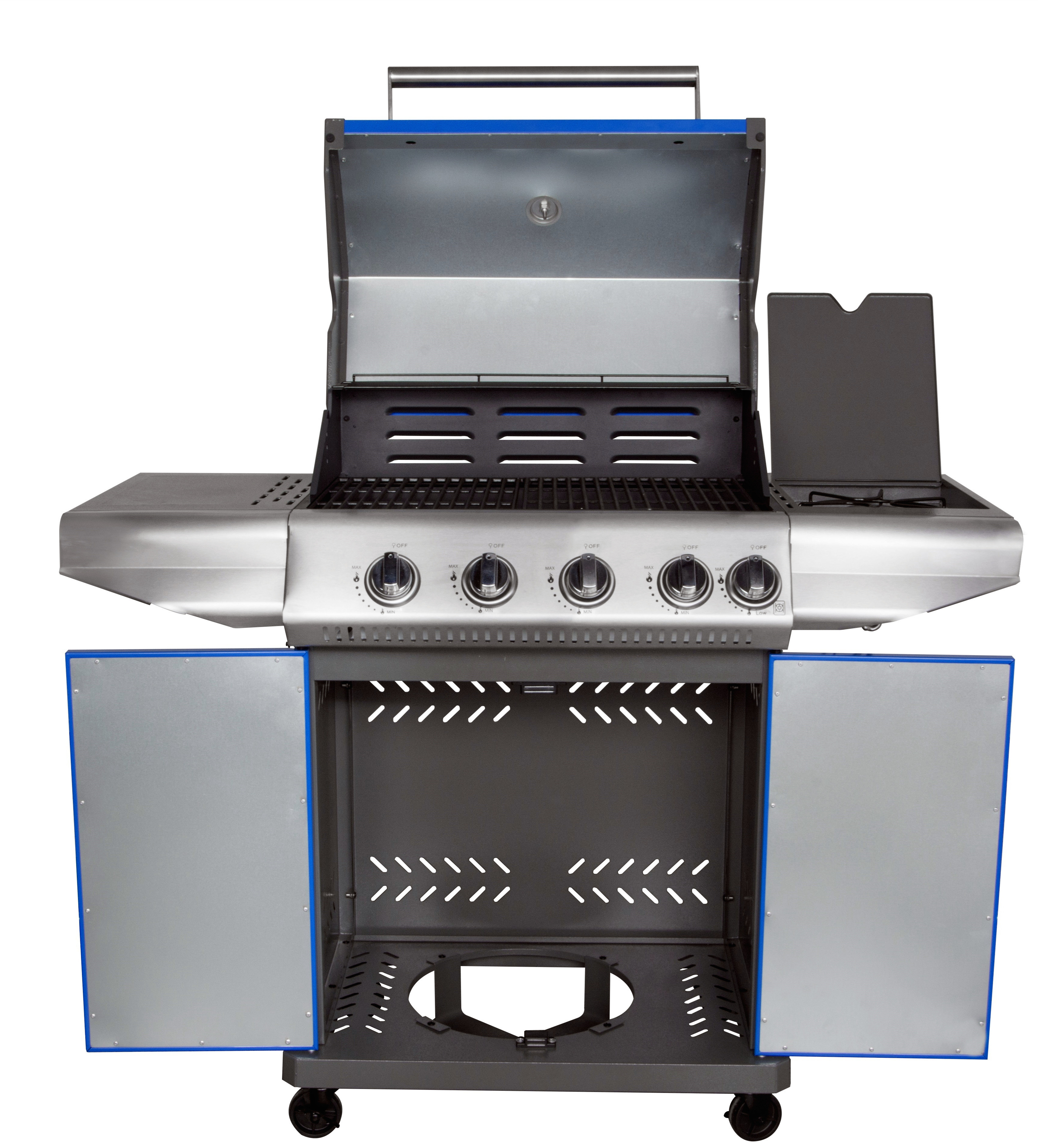 Portable 4 Burner Barbecue Grill