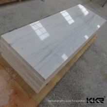 Folha acrílica decorativa da laje de superfície contínua de mármore artificial