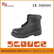 Black Action Leder Goodyear Welt Sicherheitsschuhe RS049