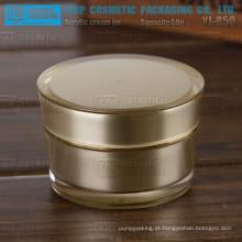 YJ-R100 100g OEM cor/impressão serviço prestado parede dupla luxo rentável 100g acrílico recipiente