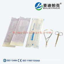 Medical disinfection packing medical and dental supplies sterilization self seal pouch and sterilization pouches