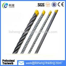 Cable de acero galvanizado de alta tensión 19 * 7
