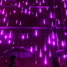 Luzes da corda do sincelo do diodo emissor de luz da gota da chuva de queda do Natal