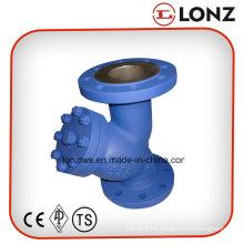 Colador tipo Y con brida de acero inoxidable DIN CF8m / CF8