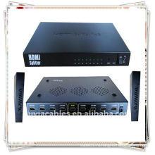 MINI 1x8 HDMI Splitter использует один источник HDMI, доступ к нескольким приемникам HDMI