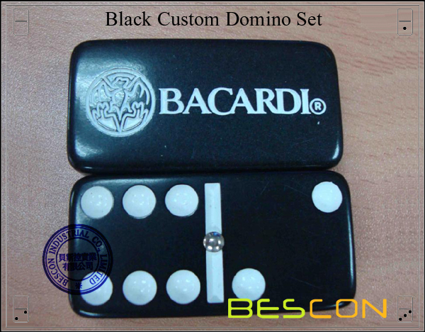 Black Custom Domino Set