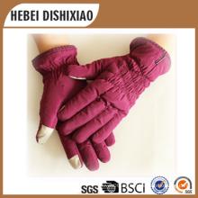 Ladies moda piel de oveja guantes de invierno guantes de pantalla táctil guantes de lana