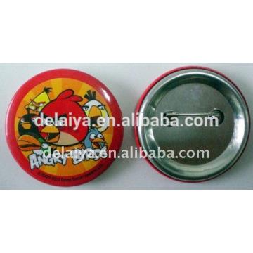 Fashion custom plastic tin badge for promotion gift