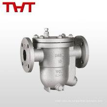 El vapor de alta calidad del flotador de la bola del reborde PN16 de China atrapa la válvula