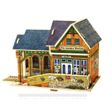 Wood Collectibles Toy for Global Houses-Norway Railway Station