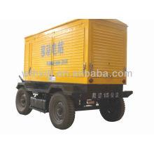 8-1500kw generador móvil con 4 ruedas