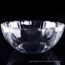 Haonai Pumpkin bowl glass Salad Mixing Bowl / fruit glass bowl / nut bowl