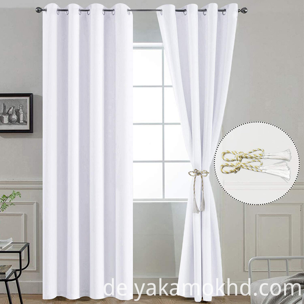 96 Inch Long pure white Curtains