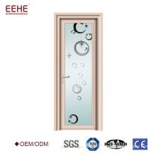 White plain modern design aluminum bathroom/toilet door