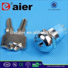 Daier K19-04 19 milímetros chave de bloqueio do interruptor elétrico
