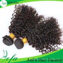 Aofa hochwertiges reines Haar 100% unverarbeitete Remy Menschenhaarverlängerung
