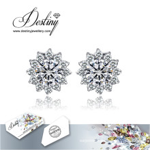 Destiny Jewellery Crystals From Swarovski Earrings New Snowflake Earrings
