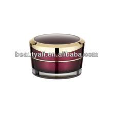 5ml 10ml 15ml 30ml 50ml 100ml Shiny Silver Ring Acrylic Cosmetic Jars