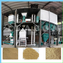 Small Animal Poultry Cattle Feed Pellet Production Line Plant
