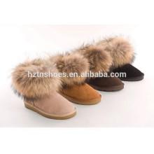 Женские туфли с сапогами Зимние ботильоны с мехом для женщин