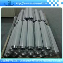 Éléments de filtre en acier inoxydable résistants à l'alcalis