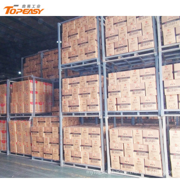 Stackable heavy duty steel storage movable rack system