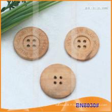 Boutons en bois naturel pour vêtement BN8030