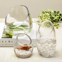 Venda Por Atacado Vaso De Vidro Cristal Transparente / Vaso De Flor