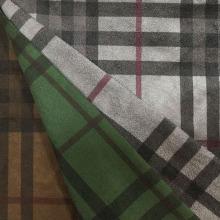 Cheques Design impressão camurça para casaco / jaqueta / calças