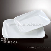 bone china white porcelain rectangular plates