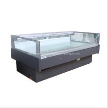 Открытый коммерческий чиллер с квадратным стеклянным верхом