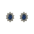 Серьги-гвоздики в виде королевской принцессы Bule Crystal