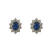 Bule Crystal Royal Princess Stud Pendientes