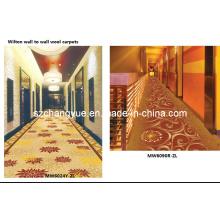 Machine Made Jacquard Wilton Wool Hotel Corridor Carpets
