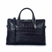Fashion Crocodile Pattern Top Layer Cowhide Tote Bag